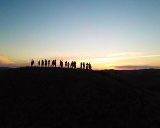 Pôr do sol no Pico da Teta (na faixa)